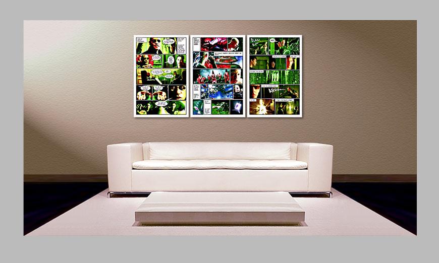 Matrix 180x90cm quadro da soggiorno - Quadri XXL
