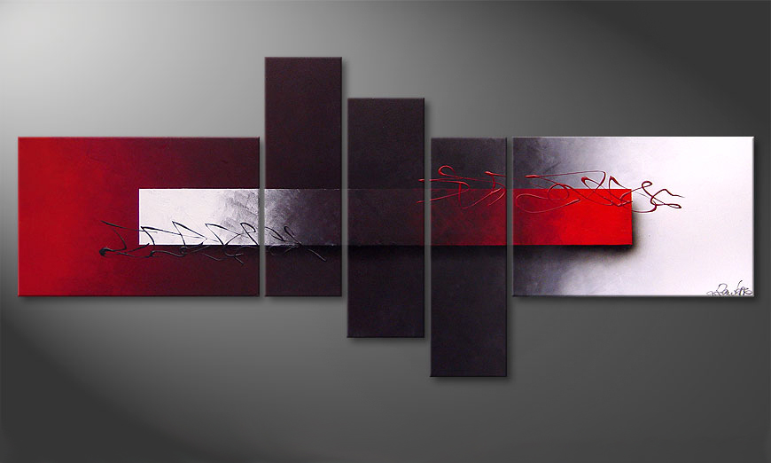 Opposites Attract 180x80x2cm quadro moderno