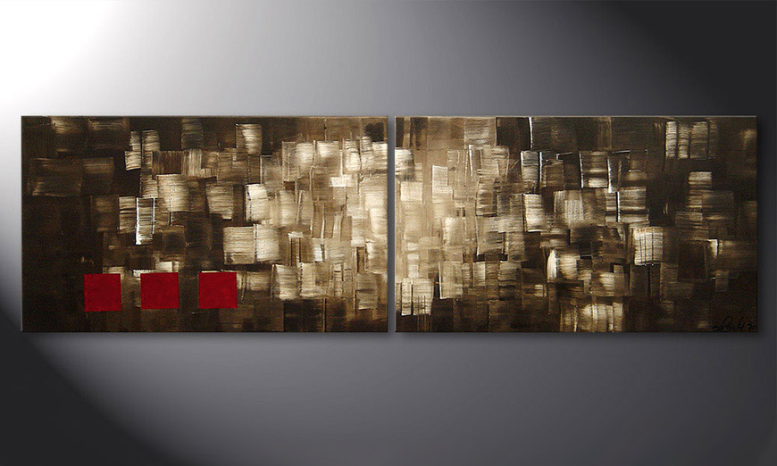 Play of Light 200x60x2cm quadro