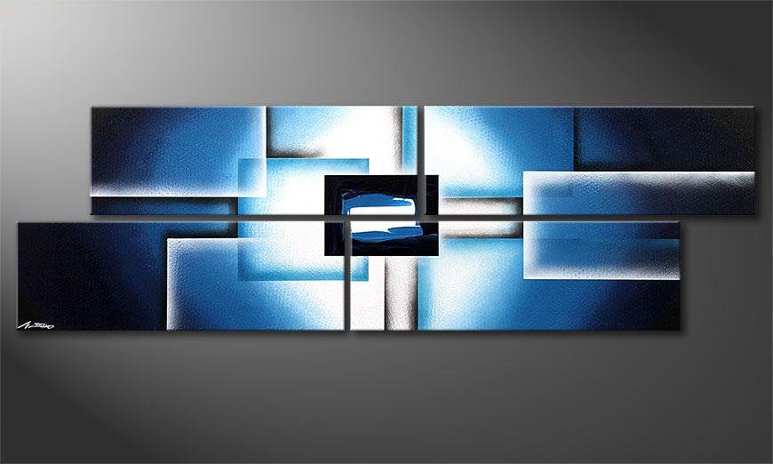 Polar Glow 200x60x2cm dipinto moderno