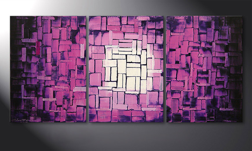 Purple Afterglow 150x70x2cm quadro