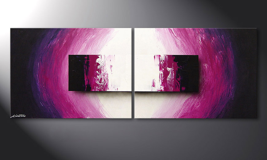 Purple Rain 160x60x2cm dipinto moderno
