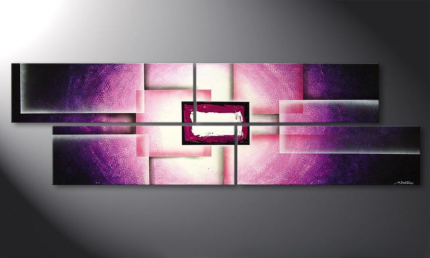 Purple Sun 200x60x2cm quadro da soggiorno