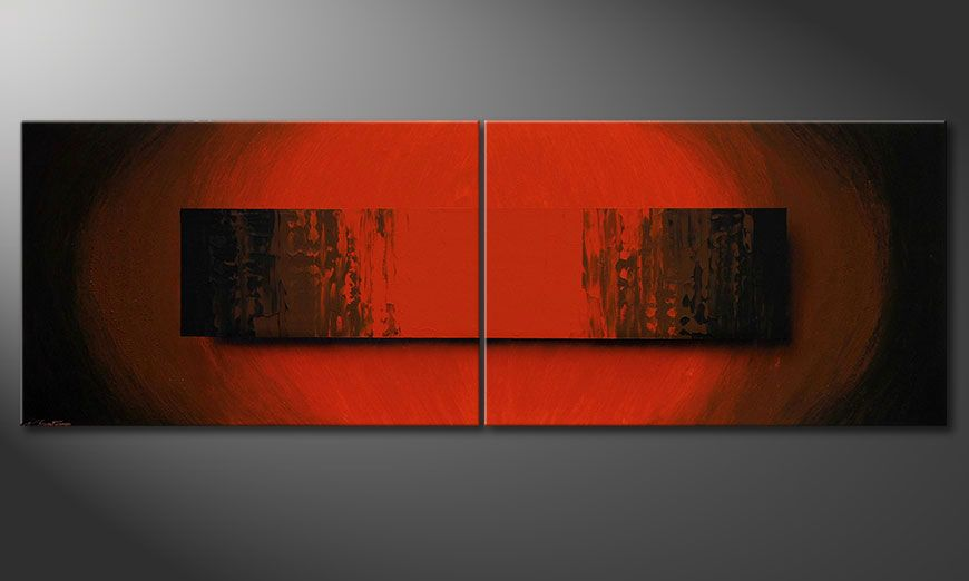 Quadro-XXL Glowing Red 240x80x2cm