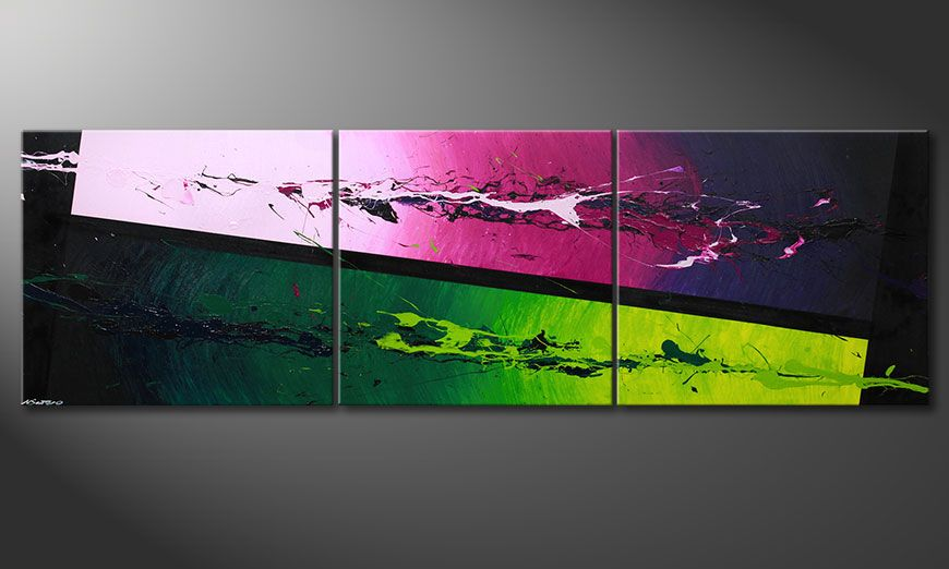 Quadro-XXL Tropic Splash 260x80x2cm