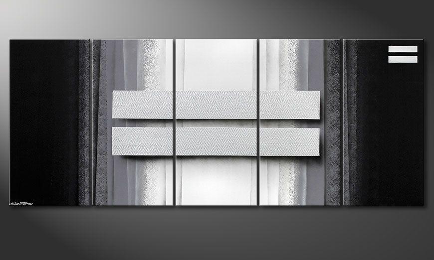 Quadro da soggiorno Silver Rain 200x80x2cm