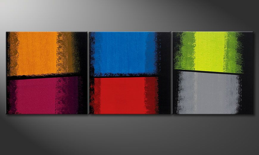 Quadro moderno Departed Colors 210x70x2cm