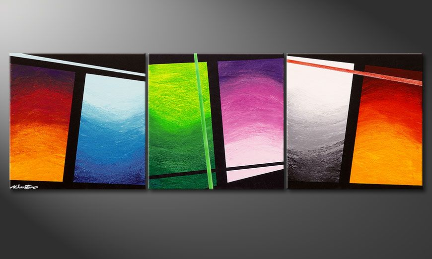 Quadro moderno Wave of Colors 150x50x2cm