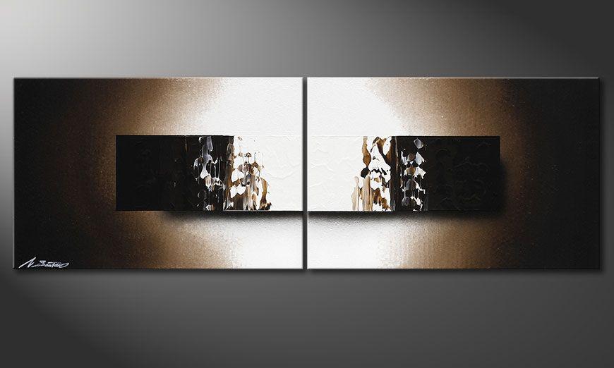 Quadro su tela Light Rain 120x40x2cm