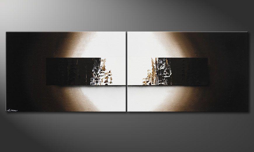 Quadro su tela Light Rain 240x80x2cm