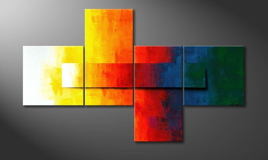 Rainbow Colors 180x110x2cm quadro