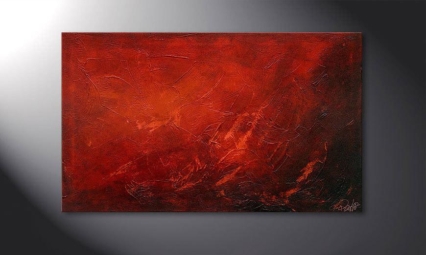 Red 100x60x2cm quadro