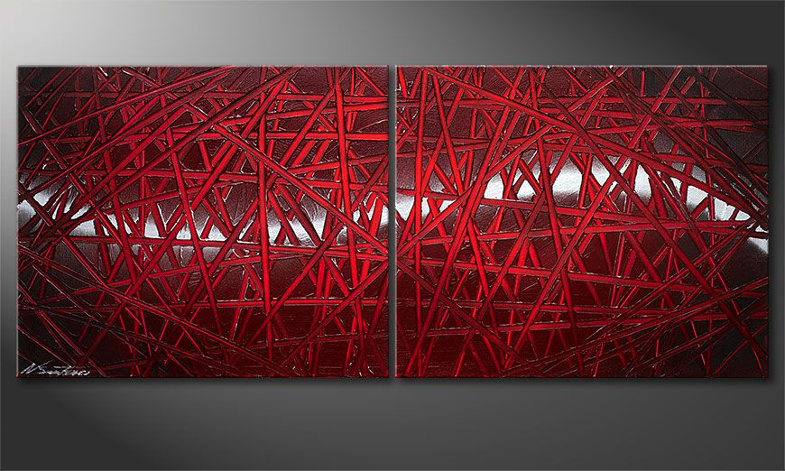 Red Push 120x50x2cm quadro