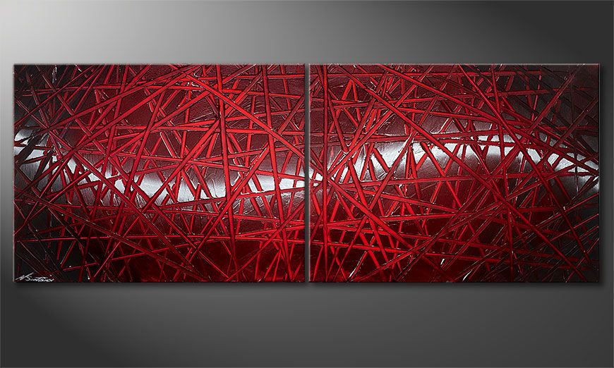 Red Push 160x60x2cm quadro