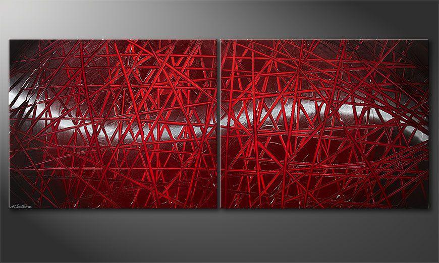 Red Push 200x80x2cm quadro