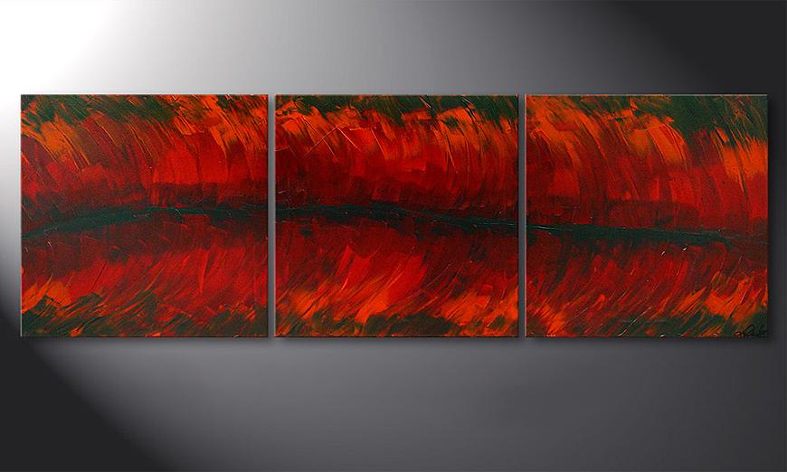 Riven Red 180x60x2cm quadro