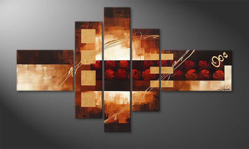 Rose Phantasies 150x90x2cm Bild