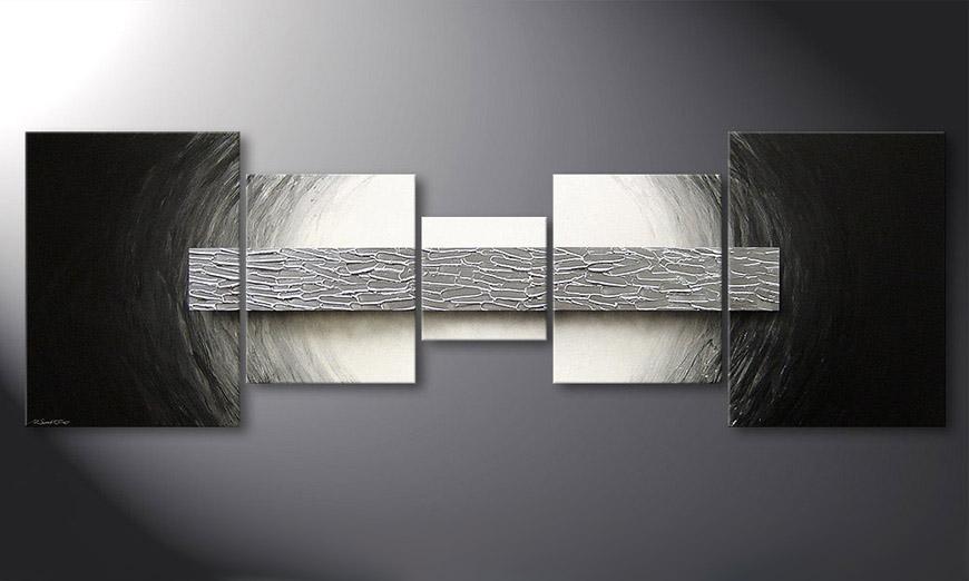 Silver Bar 210x70x2cm quadro moderno