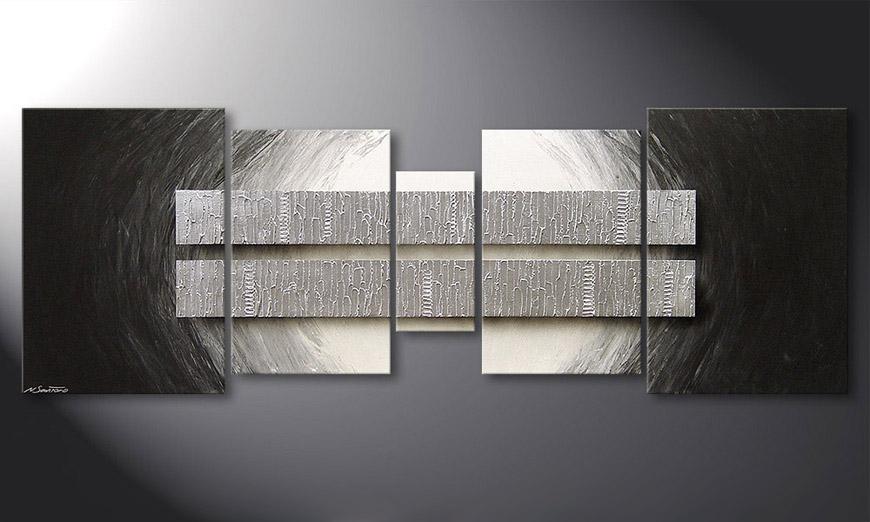Silver Blocs 200x70x2cm quadro da soggiorno