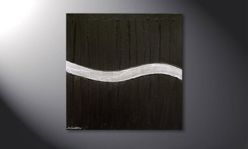 Silver Wave 80x80x2cm quadro