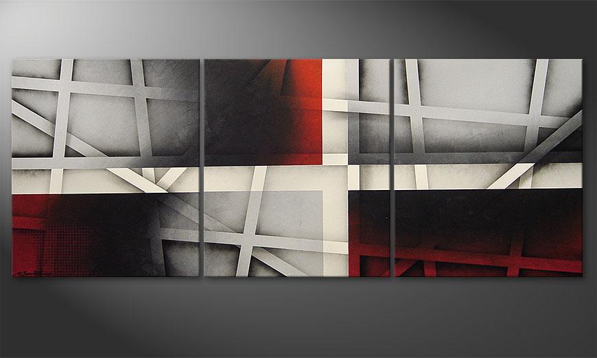 Sizzling Emotions 180x70x2cm quadro
