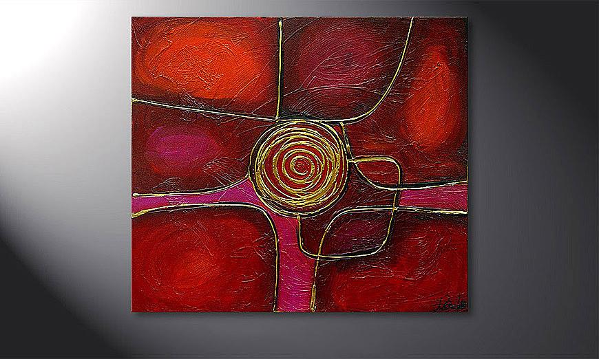 Spinning dorato 80x70x2cm quadro