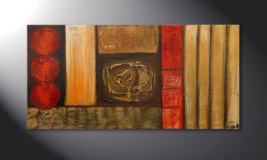 Stoned Roses 120x60x2cm quadro
