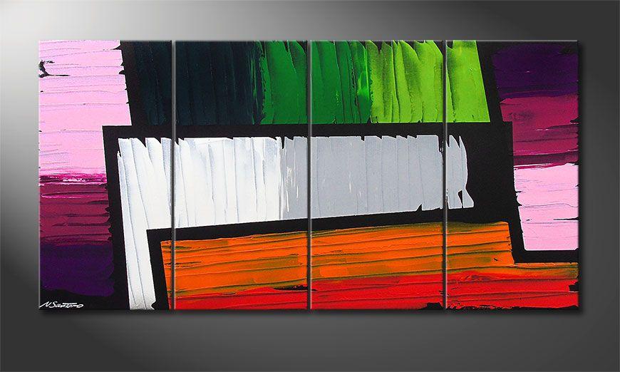 Structure of Colors 160x80x2cm tela