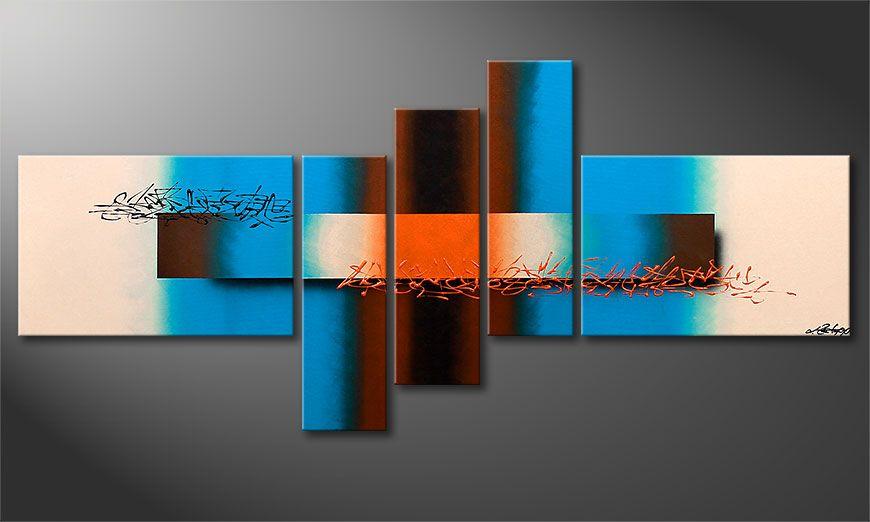 Summer Spirit 180x80x2cm dipinto moderno
