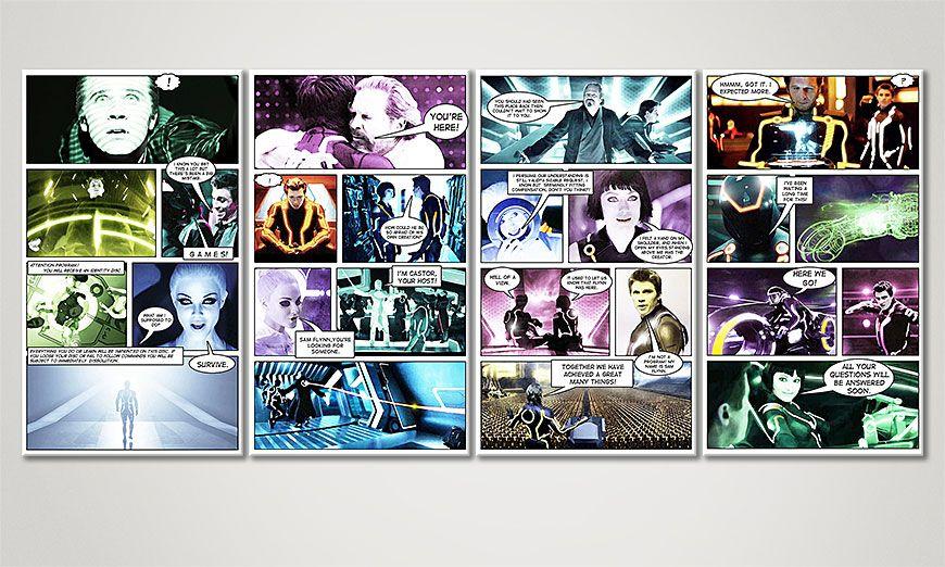 Tron: Legacy 160x70x2cm quadro