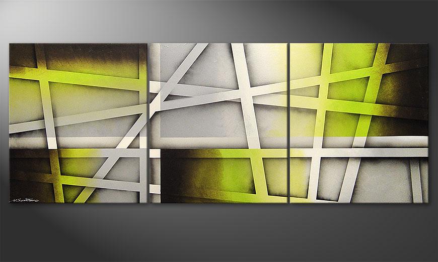 Vivid Green 180x70x2cm quadro da soggiorno