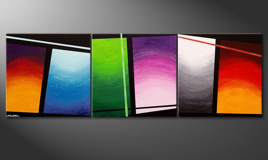 Wave of Colors 210x70x2cm quadro