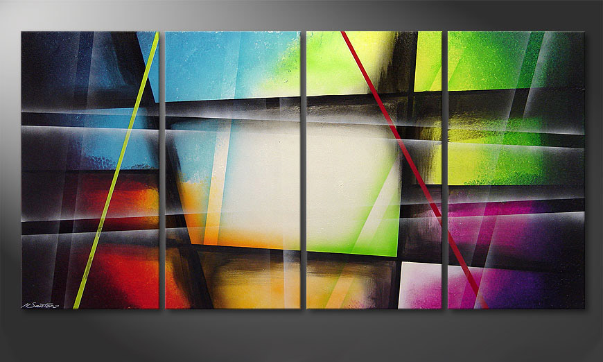 Window to Rainbow 160x80x2cm tela