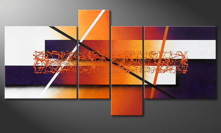 Dipinto moderno Afterglowing Memories 130x65x2cm
