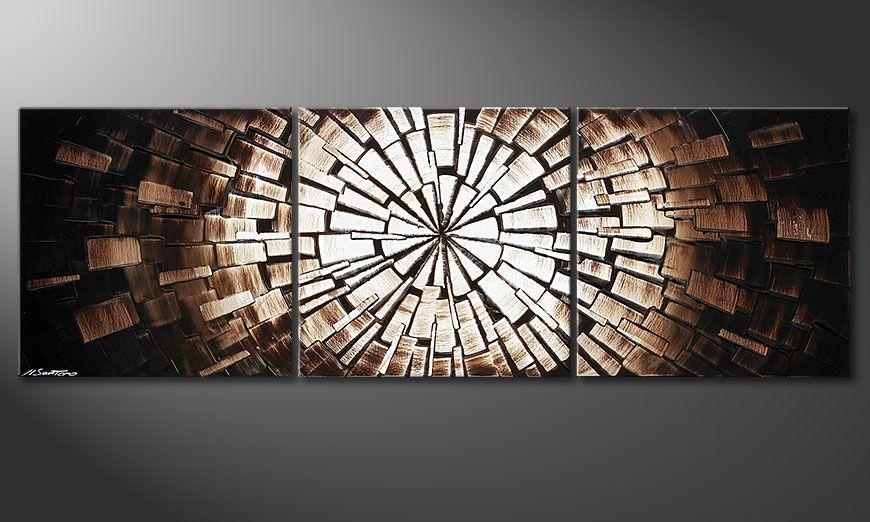 Dipinto moderno Center of Babylon 150x50x2cm