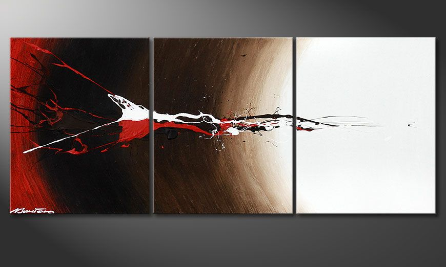 Dipinto moderno Erupted Contrast 120x50x2cm