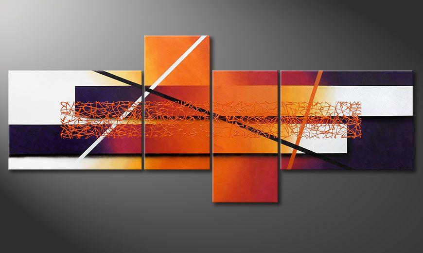 Quadro-XXL Afterglowing Memories 240x100x2cm