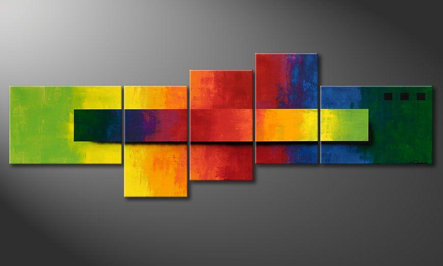 Quadro-XXL Facets of a Rainbow 260x90x2cm