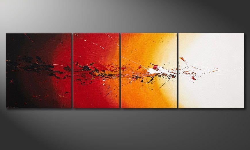 Quadro-XXL Fiery Splash 250x80x2cm