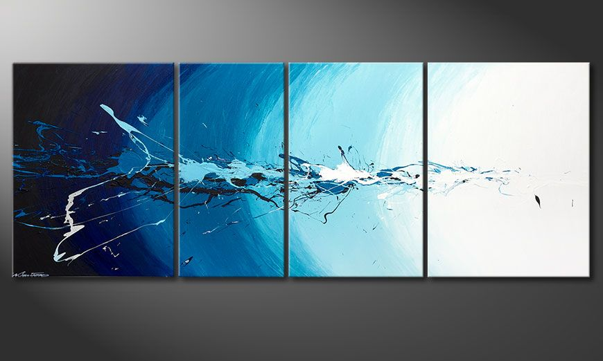 Quadro-XXL Water Splash 210x80x2cm