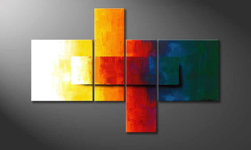 Quadro da soggiorno Rainbow Colors 120x80x2cm