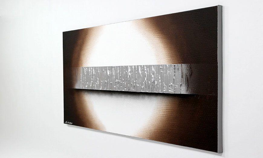 quadro da soggiorno Silver Waves 140x70cm - Quadri XXL