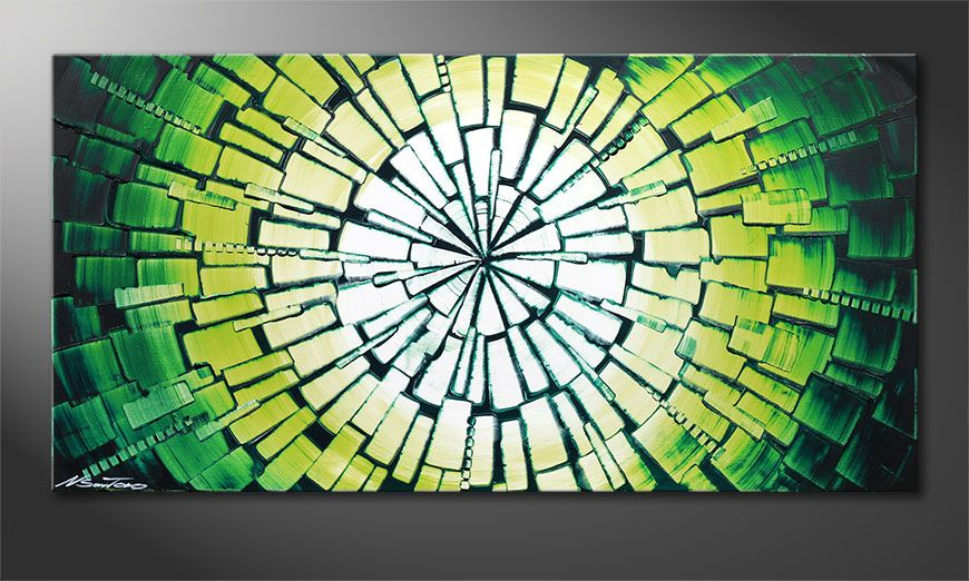 Quadro moderno Center of Jungle 100x50x2cm