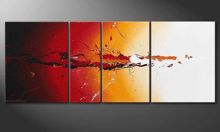Quadro moderno Fiery Splash 130x50x2cm