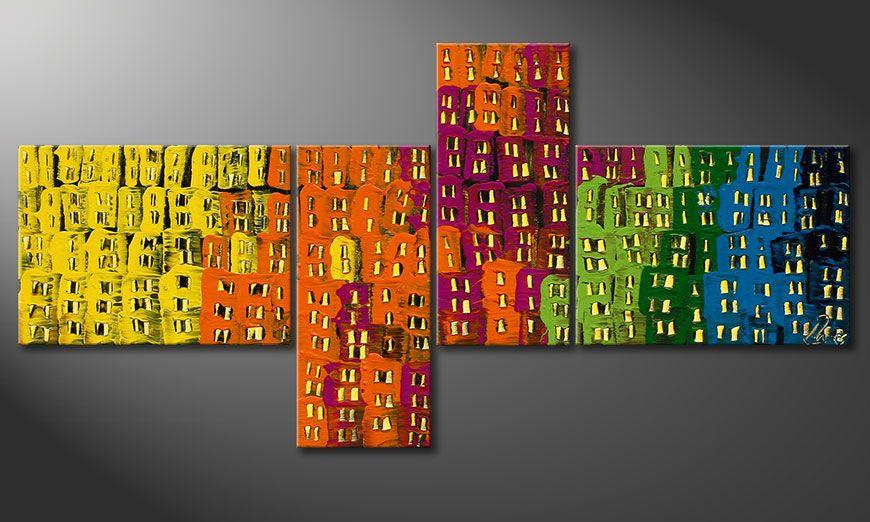 Quadro su tela Crazy Town 120x60x2cm