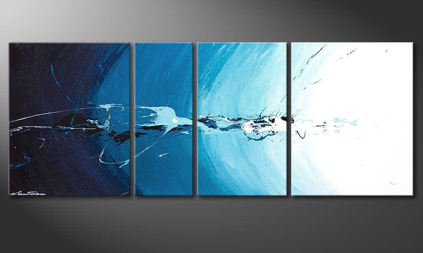 Quadro su tela Water Splash 130x50x2cm