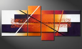 'Afterglowing Memories' 180x80cm quadro