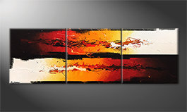 Arte moderna 'Battle Of Fire' 210x70cm