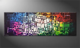 Arte moderna 'Brightly Coloured' 210x70cm