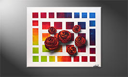 Arte moderna 'Colors Of Roses' 100x80cm